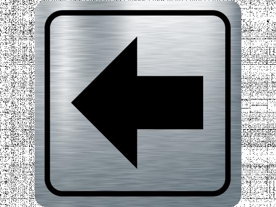 Указателна табела стрелка наляво - инокс