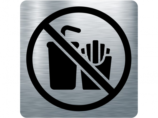Забранителна табела храна и напитки - инокс