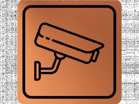 Указателна табела охранителна камера - мед