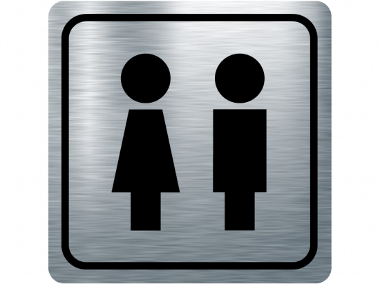 Указателна табела момиче и момче - инокс
