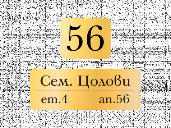Табелки за пощенска кутия Цолови - злато