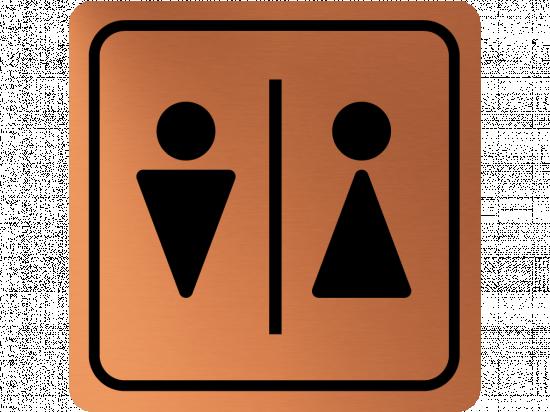 Указателна табела момче и момиче - мед