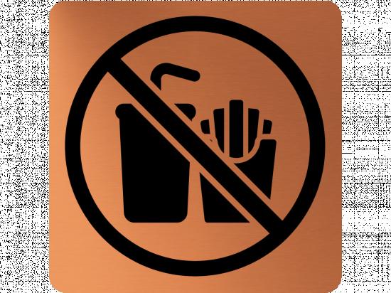 Забранителна табела храна и напитки - мед