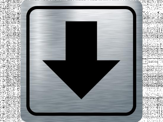 Указателна табела стрелка надолу - инокс