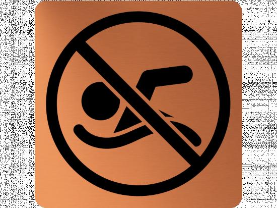Забранителна табела плуване - мед