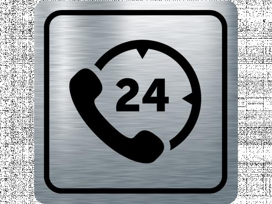 Указателна табела телефон 24 - инокс
