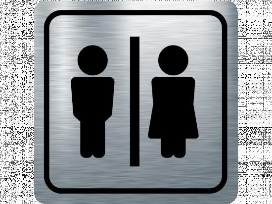 Указателна табела мъж и жена - инокс