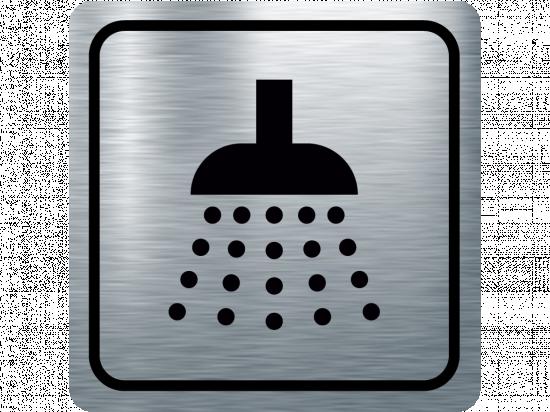 Указателна табела душ - инокс