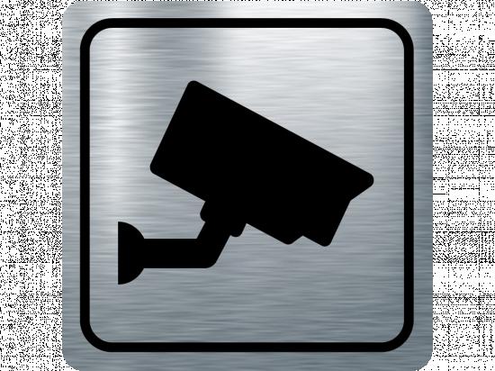 Указателна табела видеонаблюдение - инокс