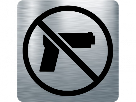Забранителна табела оръжие - инокс