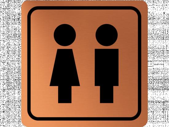 Указателна табела момиче и момче - мед