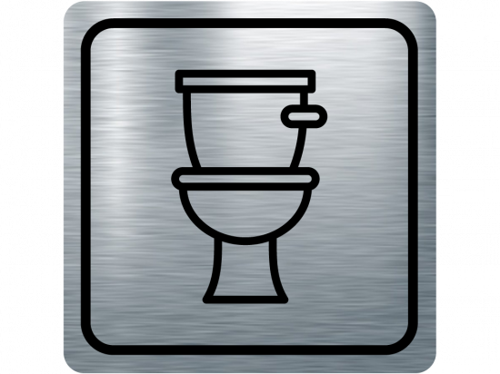 Указателна табела тоалетна - инокс