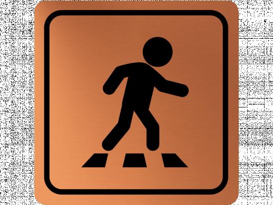 Указателна табела пешеходна пътека - мед