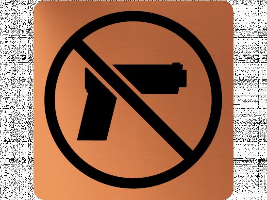 Забранителна табела оръжие - мед