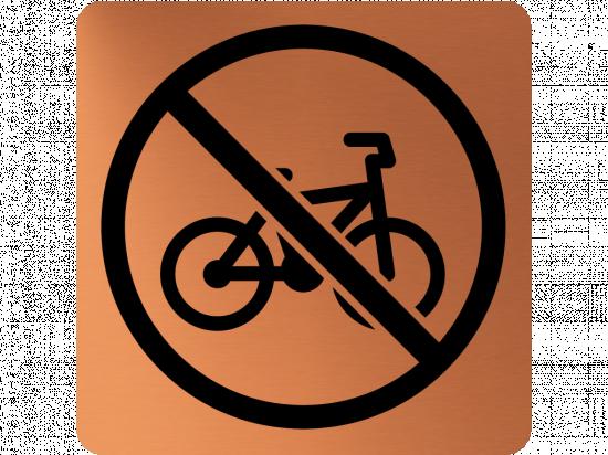 Забранителна табела велосипед - мед