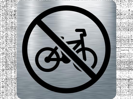 Забранителна табела велосипед - инокс