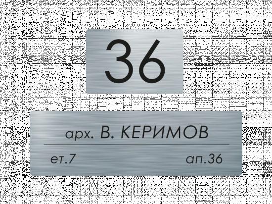 Табелки за пощенска кутия Керимов - инокс
