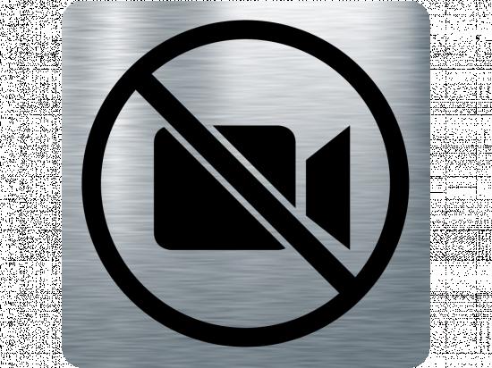 Забранителна табела камера - инокс
