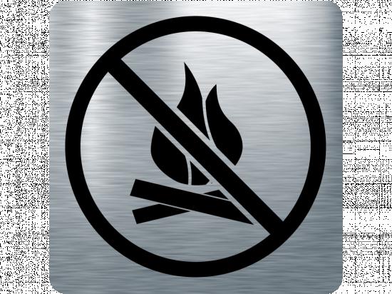 Забранителна табела огън - инокс
