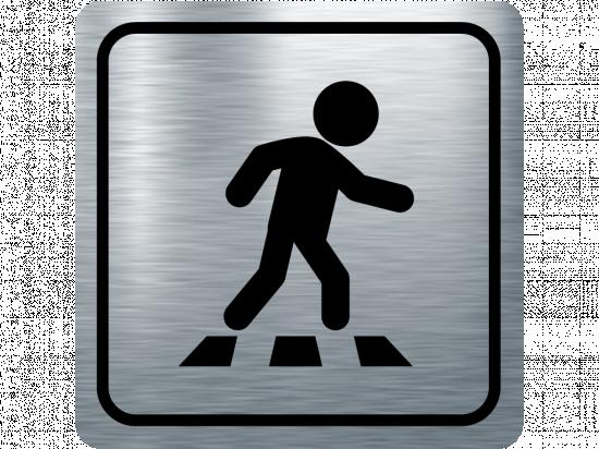 Указателна табела пешеходна пътека - инокс