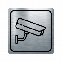 Указателна табела охранителна камера - инокс