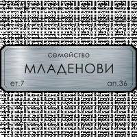 Табелка за врата Младенови - инокс