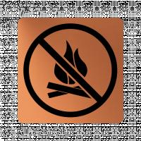 Забранителна табела огън - мед