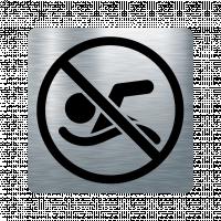 Забранителна табела плуване - инокс