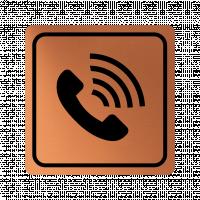 Указателна табела телефонна слушалка - мед