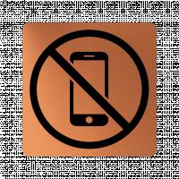 Забранителна табела телефон - мед