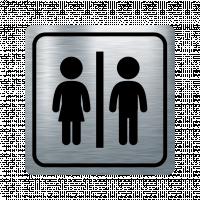 Указателна табела жена и мъж - инокс