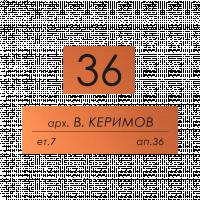 Табелки за пощенска кутия Керимов - мед