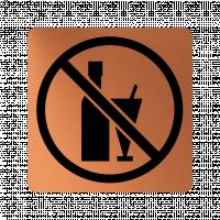 Забранителна табела алкохол - мед