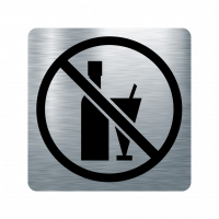 Забранителна табела алкохол - инокс