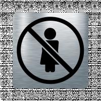 Забранителна табела жена - инокс