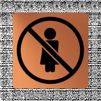 Забранителна табела жена - мед