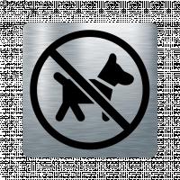 Забранителна табела куче - инокс