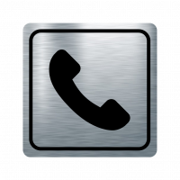Указателна табела телефон - инокс