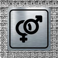 Указателна табела знак за пол - инокс
