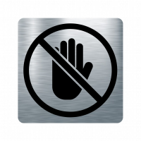 Забранителна табела ръка - инокс