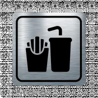 Указателна табела храна и напитки - инокс