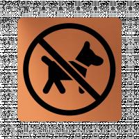 Забранителна табела куче - мед