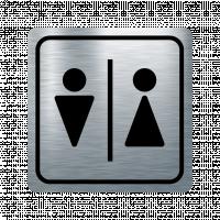 Указателна табела момче и момиче - инокс