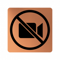 Забранителна табела камера - мед