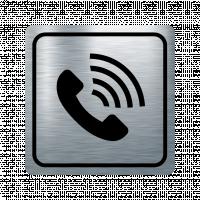 Указателна табела телефонна слушалка - инокс