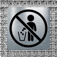 Забранителна табела боклук - инокс