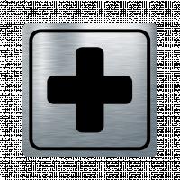 Указателна табела кръст - инокс
