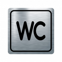 Указателна табела WC - инокс