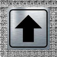 Указателна табела стрелка нагоре - инокс