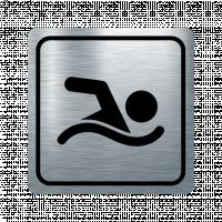 Указателна табела плуване - инокс